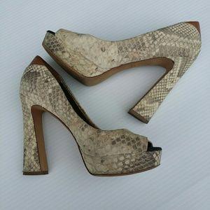 Sam Edelman Snake Leather Heels